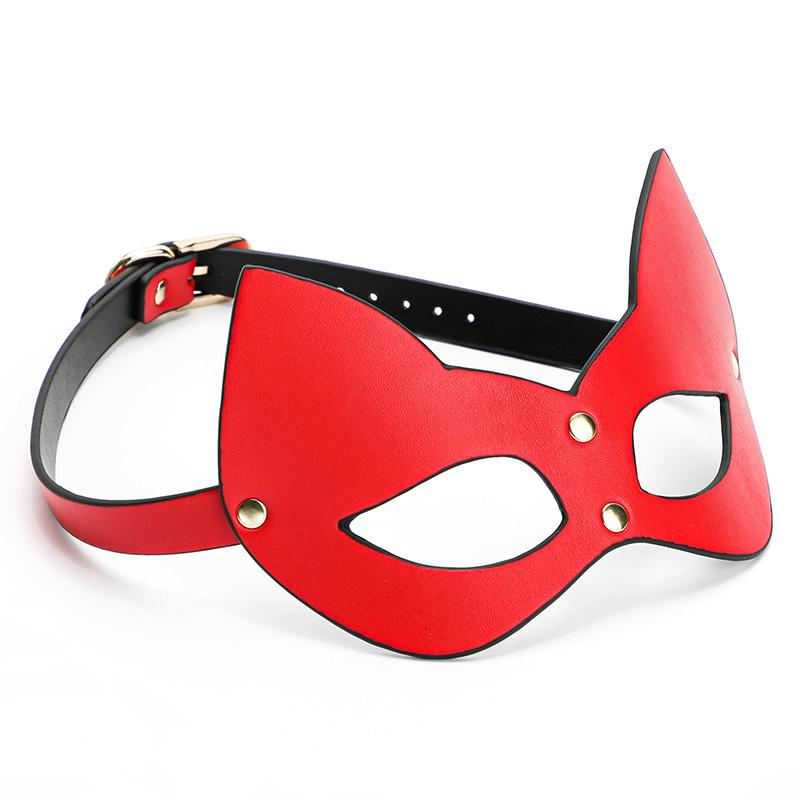 BDSM Bondage Sexy Woman Cat Eye Mask Pu Leather Face Harness Fetish Wear Sex Tools For Woman