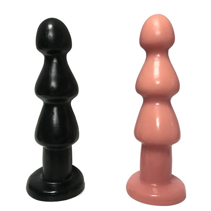 Soft Rubber Pagoda Posterior Anal Plug Female Pull Beads Masturbation Male Prostate Massager Adult sex Anal Toys