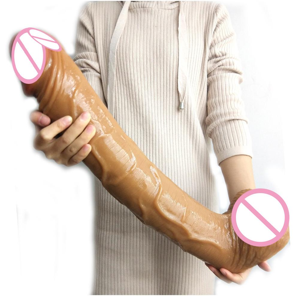 50.5cm Super Long FAAK Big Penis Realistic Dildo with Suction Cup Environmental Friendly Material Big Long Giant Realistic Dildo