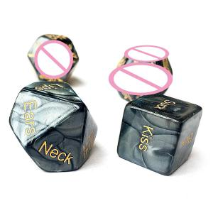 Adult Love Dice 4pcs Sex Dice Position Dice Love Game Toy Couple Gift Dice Game Couple Foreplay Toy Prop Adult Sex Dice Toy