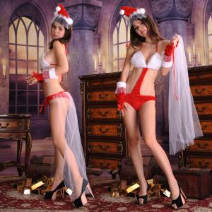 Custom lingerie Christmas sexy  three-point combination Christmas  costumes sexy lingerie cosplay