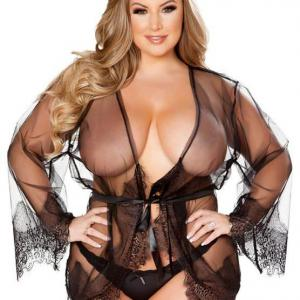 Free Shipping Big size Lingerie for Women-Sexy Temptation Babydoll Lace Sexy Pajamas Suspender Skirt Suit