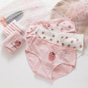Hot Selling Pure Cotton Ladies'Divided Underwear Pure Cotton Printed Women's pantie