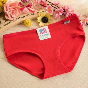 Hot sale Milk-silk middle waist candy color solid color girl panty