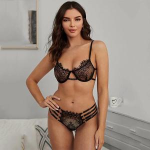 New sexy lingerie bra thong lace bra and panty set lingerie manufacturers