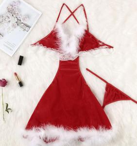 New style sexy  underwear sexy women's lace Christmas Condole belt lingerie set wholesale