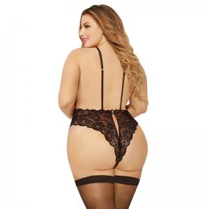 Plus Size Ladies' Sexy Lingerie With  Lace Material  And Fashionable Design