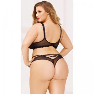 Wholesale  europefat girl sexy lace lingerie Big Size
