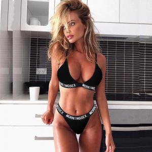 Wholesale Spring Sexy Hot Transparent sexy leather lingerie bra set women