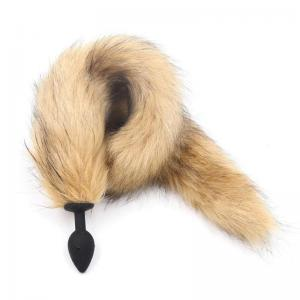Artificial Wool Silicone Adult Anal Tail Butt Plug Fox Tail Long Anal Plug Sex Toy Cosplay SM Game Tools