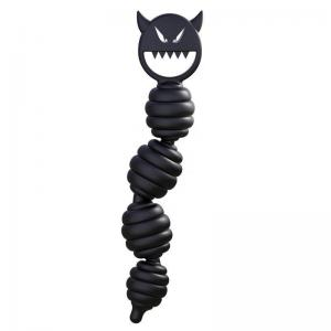 Black Demon Beads Soft Silicone Anal Plug Adult Simulation Dildos Masturbation Sex Toys Made In China