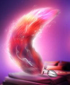 Hot Selling New Light Led Luminous Fox Tail Anal Butt Plug Cosplay Detachable Butt Plug with Long Tail for Anal Sex Game Toys