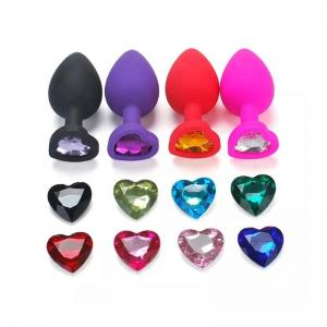 New arrival Silicone Anal Massager With Heart Shape Beautiful Adornment For Men And Women Anal Sex Toy Butt Plug