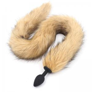 Smooth Silicone Anal Bead Plug Fox Tail Erotic Anus Toys Butt Plug Anal Sex Toys for Woman Men Gay Sexy Adult Accessories