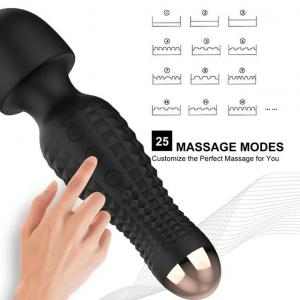 2019 New Patent Rechargeable silicone  vibrating massage tools wireless wand massager for women man couple