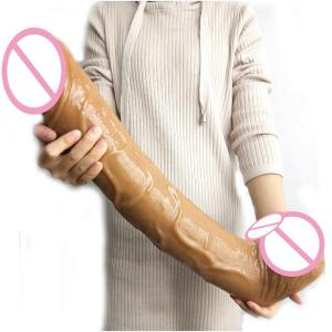 FAAK 50.5cm*8.7cm Super coarse plastic giant penis realistic black thick and big strong PVC dildo huge