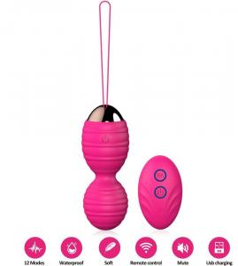 Melo Kegel Balls for Women  Premium Silicone Ben Wa Balls with 12 Strong Vibrations & Remote Control Kegel Exercise Weights