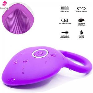 Silicone Vibrating Cock Ring Waterproof Rechargeable Penis Ring Vibrator